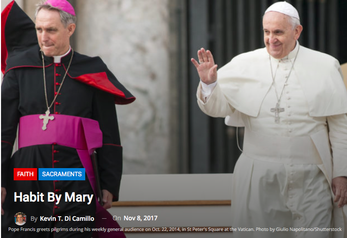 Catholic Digest – 'Habit by Mary'
