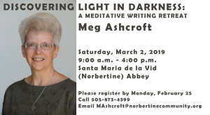 Discovering Light in Darkness: A Meditative Writing Retreat @ Norbertine Abbey