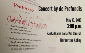 Concert by de Profundis @ Norbertine Abbey