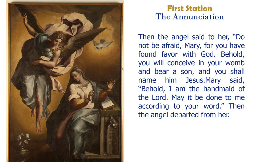 First Station: The Annunciation
