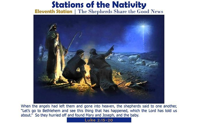 Eleventh Station: The Shepherds Share the Good News