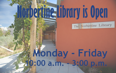 Norbertine Library is Open