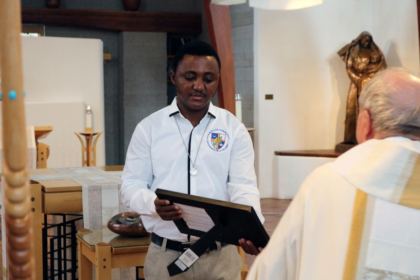 Church priests with bible